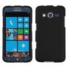 Samsung Ativ S Neo SPH-I800 Black Phone Protector Cover(Rubberized)