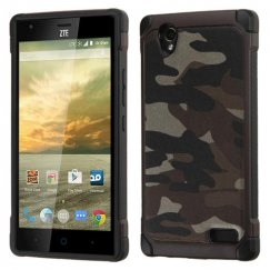 ZTE Warp Elite Camouflage Gray Backing/Black Astronoot Case