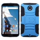 Motorola Nexus 6 Dark Blue/Black Advanced Armor Stand Protector Cover