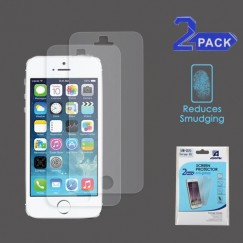 Apple iPhone 5/5s Anti-grease LCD Screen Protector - Clear - 2-pack