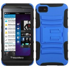 Blackberry Z10 Dark Blue/Black Advanced Armor Stand Case