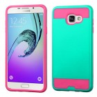 Samsung Galaxy A7 Teal Green/Hot Pink Brushed Hybrid Case