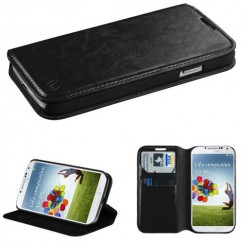 Samsung Galaxy S4 Black Wallet with Tray