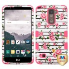 LG LG G Stylo 2 Plus Pink Fresh Roses/Electric Pink Hybrid Case