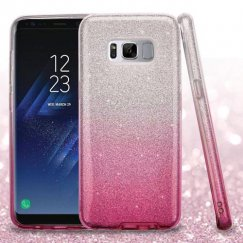Samsung Galaxy S8 Pink Gradient Glitter Hybrid Protector Cover