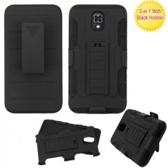 Black/Black Advanced Armor Stand Case Combo with Black Holster
