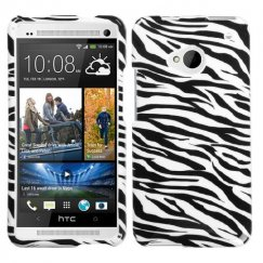 HTC One M7 Zebra Skin Case