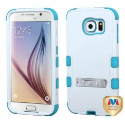 Samsung Galaxy S6 Natural Ivory White/Tropical Teal Hybrid Case with Stand