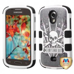 Samsung Galaxy Light Sword & Skull/Black Hybrid Case with Stand