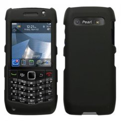 Blackberry 9100 Pearl 3G Black Case - Rubberized