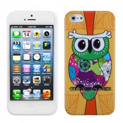 Apple iPhone 5c Tropical Orange Owl Candy Skin Cover