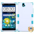 ZTE Grand X Max / Grand X Max Plus Natural Ivory White/Tropical Teal Hybrid Case