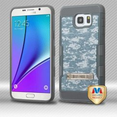Samsung Galaxy Note 5 Universal Camouflage/Iron Gray Hybrid Case with Stand