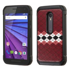 Motorola Moto G 3rd Gen Modern Argyle Backing/Black Astronoot Case