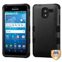 Kyocera Hydro Reach / Hydro View Natural Black/Black Hybrid Case