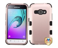 Samsung Galaxy J1 Rose Gold/Black TUFF Hybrid Phone Protector Cover