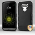 LG G5 Rubberized Black/Black Hybrid Protector Cover