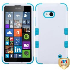 Nokia Lumia 640 Ivory White/Tropical Teal Hybrid Case