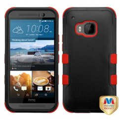 HTC One M9 Natural Black/Red Hybrid Case