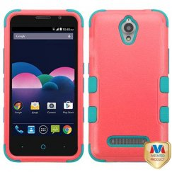 ZTE Obsidian Natural Baby Red/Tropical Teal Hybrid Case