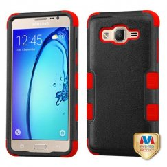 Samsung Galaxy On5 Natural Black/Red Hybrid Case