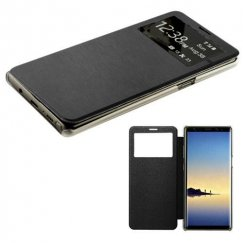 Samsung Galaxy Note 8 Black Silk Texture with Transparent Frosted Tray