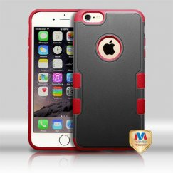 Apple iPhone 6 Plus Natural Black/Red Hybrid Case