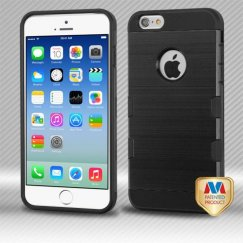 Apple iPhone 6s Black/Black Brushed Hybrid Case