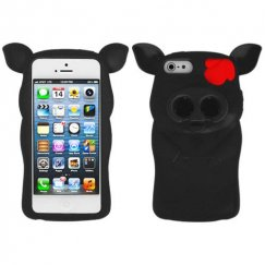 Apple iPhone 5c Black Pig Nose Skin Cover