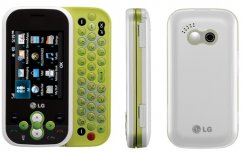 LG Neon GT365 QWERTY Slider Phone - ATT Wireless - White