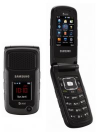 Samsung Rugby II SGH-A847 Rugged MIL-SPEC Flip Phone - ATT Wireless - Black
