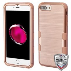 Apple iPhone 8 Plus Rose Gold Brushed/Rose Gold Hybrid Case Military Grade