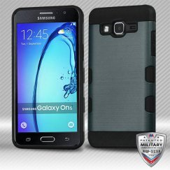 Samsung Galaxy On5 Slate Blue/Black Brushed Hybrid Case Military Grade