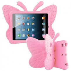 AppleiPad Mini 3rd Gen Pink Butterfly Kids Drop-resistant Protector Cover