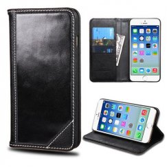 Apple iPhone 6s Black Genuine Leather Wallet