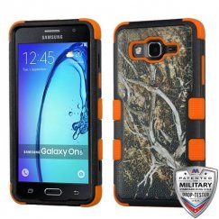 Samsung Galaxy On5 Yellow/Black Vine/Orange Hybrid Case