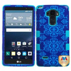 LG G Stylo Purple/Blue Damask/Tropical Teal Hybrid Case