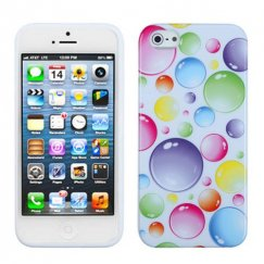 Apple iPhone 5c Rainbow Bigger Bubbles Candy Skin Cover
