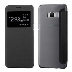 Samsung Galaxy S8 Black Silk Texture with Transparent Frosted Tray