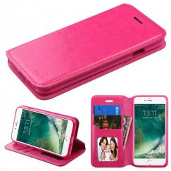 Apple iPhone 8 Hot Pink Wallet with Tray