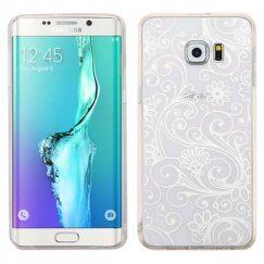 Samsung Galaxy S6 Edge Plus White four-leaf Clover Candy Skin Cover
