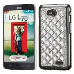 LG Optimus L70 Silver Desire Back Case