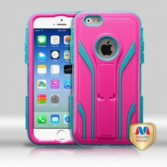 Apple iPhone 6s Natural Hot Pink/Tropical Teal Extreme Hybrid Case