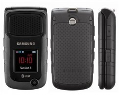 Samsung Rugby III Rugged 3G Flip Phone for AT&T Wireless - Gray