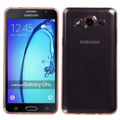 Samsung Galaxy On5 Glossy Transparent Rose Gold Candy Skin Cover