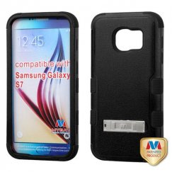 Samsung Galaxy S7 Natural Black/Black Hybrid Case with Stand