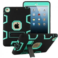 AppleiPad Mini 3rd Gen Teal Green/Black Symbiosis Stand Protector Cover