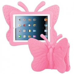 AppleiPad 1st Generation 2010 Pink Butterfly Kids Drop-resistant Protector Cover