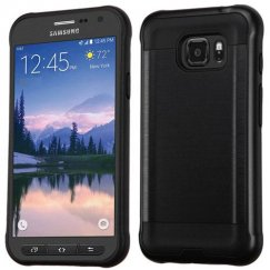 Samsung Galaxy S7 Active Black/Black Brushed Hybrid Case