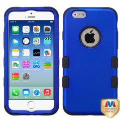 Apple iPhone 6s Titanium Dark Blue/Black Hybrid Case